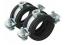 """Метална тръбна скоба с EPDM гума ф32-36мм (1"""")"""