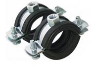 Метална тръбна скоба с EPDM гума ф159-166мм, М8